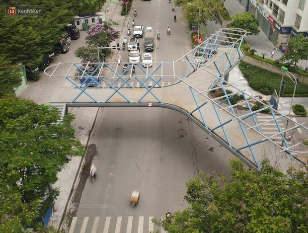 Ảnh: Chiêm ngưỡng cây cầu chữ Y độc nhất tại Hà Nội sắp đi vào vận hành - Ảnh 2.