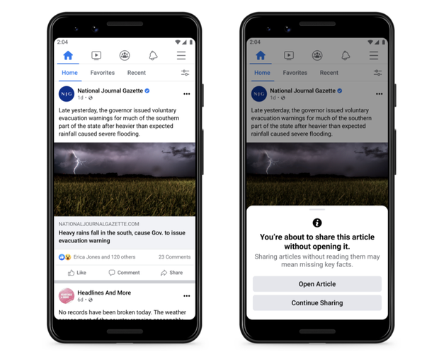 Facebook thử nghiệm công cụ chống tin giả - Ảnh 1.
