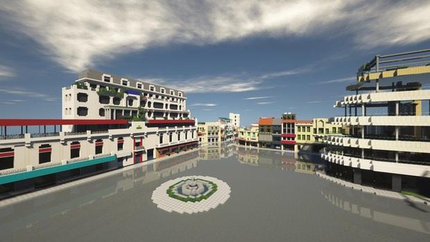 Phố đi bộ quanh Hồ Gươm được tái hiện lại trong Minecraft - Ảnh 2.