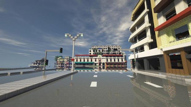Phố đi bộ quanh Hồ Gươm được tái hiện lại trong Minecraft - Ảnh 3.