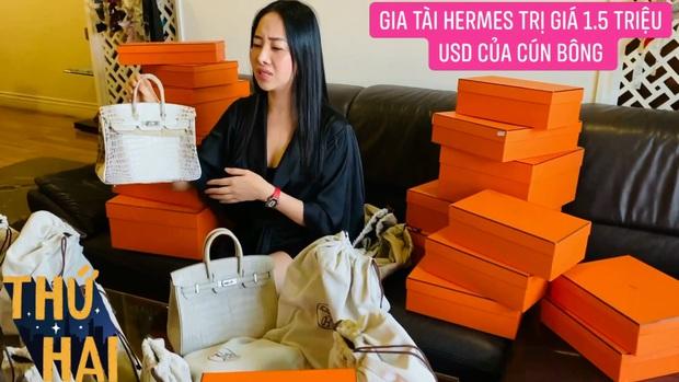 Hot mom nhiều túi Hermès hơn cả Ngọc Trinh hé lộ gia tài túi hơn 30 tỷ, nhiều mẫu hot hit chưa chắc có tiền đã mua được - Ảnh 4.