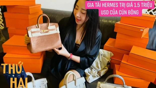 Hot mom nhiều túi Hermès hơn cả Ngọc Trinh hé lộ gia tài túi hơn 30 tỷ, nhiều mẫu hot hit chưa chắc có tiền đã mua được - Ảnh 6.