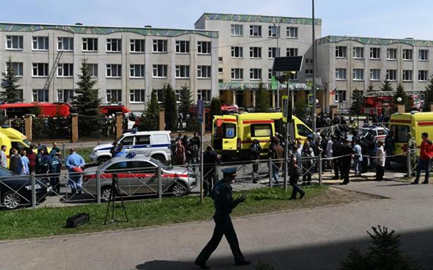 Nổ lớn, xả súng ở trường học Nga, gần 20 người thương vong - Ảnh 1.