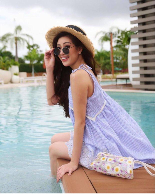 Khánh Vân đọ sắc cùng Miss Universe 2019: Nhan sắc rạng rỡ, nổi bật trên Instagram của cuộc thi - Ảnh 6.