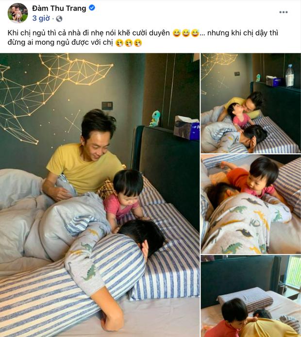 Đàm Thu Trang khoe gia đình hạnh phúc: Công chúa Suchin nhỏ mà quậy, anh trai Subeo thì chịu trận tránh camera - Ảnh 2.
