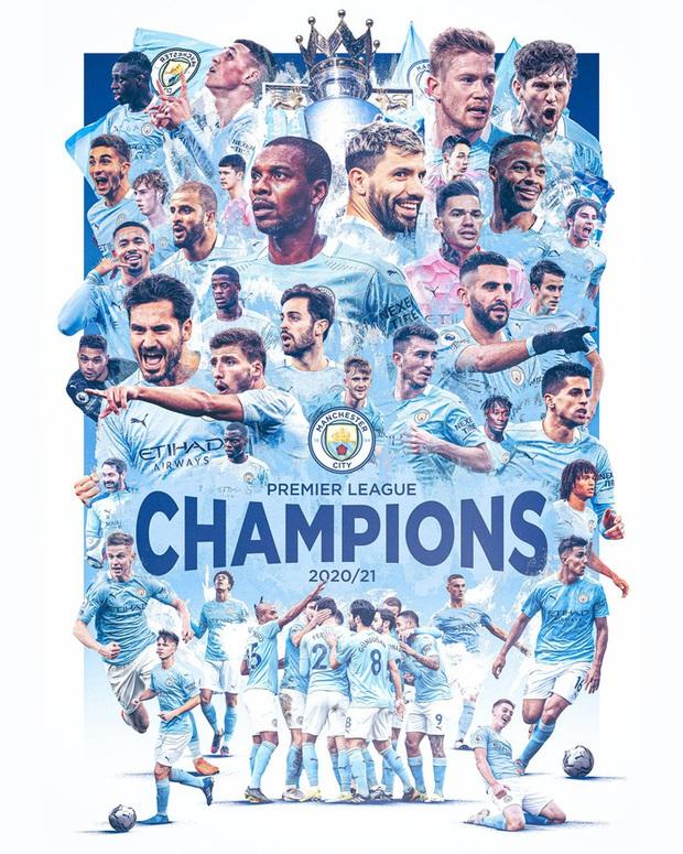 Man City chính thức vô địch Ngoại hạng Anh, Pep lập hàng loạt thành tích - Ảnh 2.