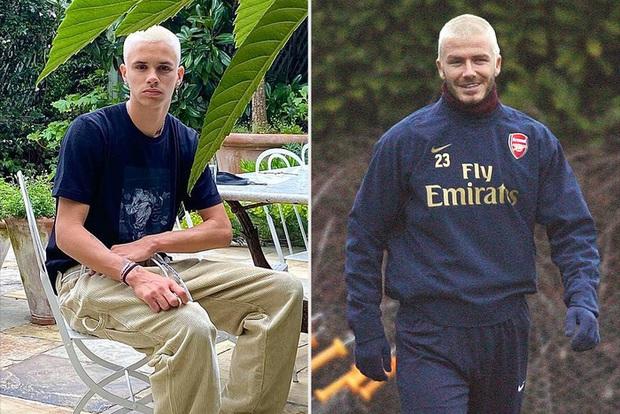 Chỉ một thay đổi trên gương mặt, quý tử nhà Beckham khiến dân tình phải tới tấp đào lại hình ảnh ông bố David thời trẻ để so sánh - Ảnh 3.