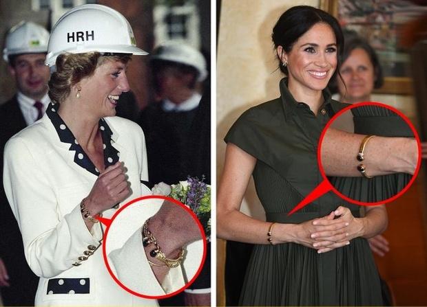 Meghan Markle lôi cả Công nương Diana vào cuộc chiến thách thức Hoàng gia Anh, bằng chứng ở một món phụ kiện nhỏ xíu - Ảnh 9.