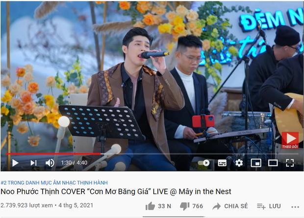 Ra MV thì khá chật vật nhưng Noo Phước Thịnh mà hát live là 1 lèo nắm 3 vị trí trên top trending luôn! - Ảnh 1.
