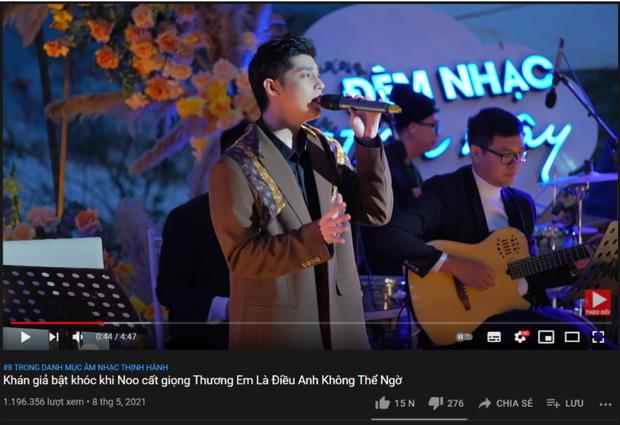 Ra MV thì khá chật vật nhưng Noo Phước Thịnh mà hát live là 1 lèo nắm 3 vị trí trên top trending luôn! - Ảnh 2.