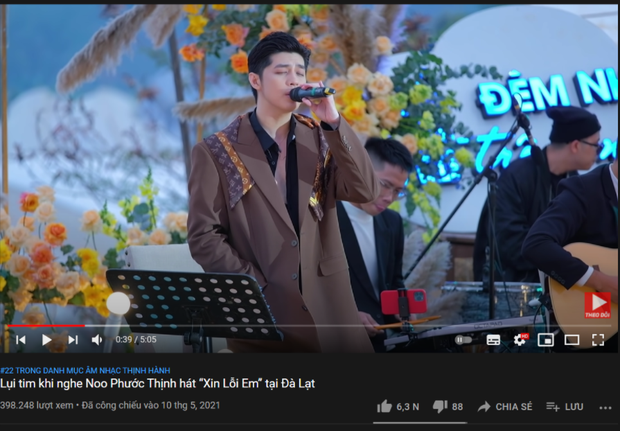 Ra MV thì khá chật vật nhưng Noo Phước Thịnh mà hát live là 1 lèo nắm 3 vị trí trên top trending luôn! - Ảnh 3.