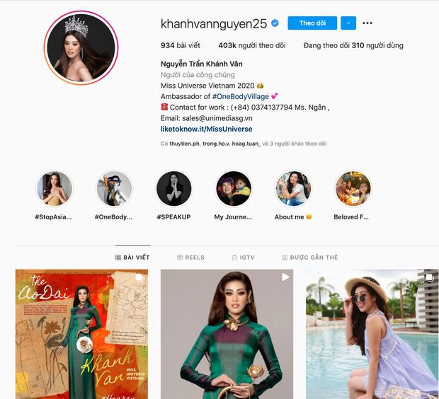 Càng sát đêm thi chính thức, Khánh Vân càng nhận được nhiều sự chú ý, chính thức cán mốc 400,000 người theo dõi trên Instagram! - Ảnh 3.