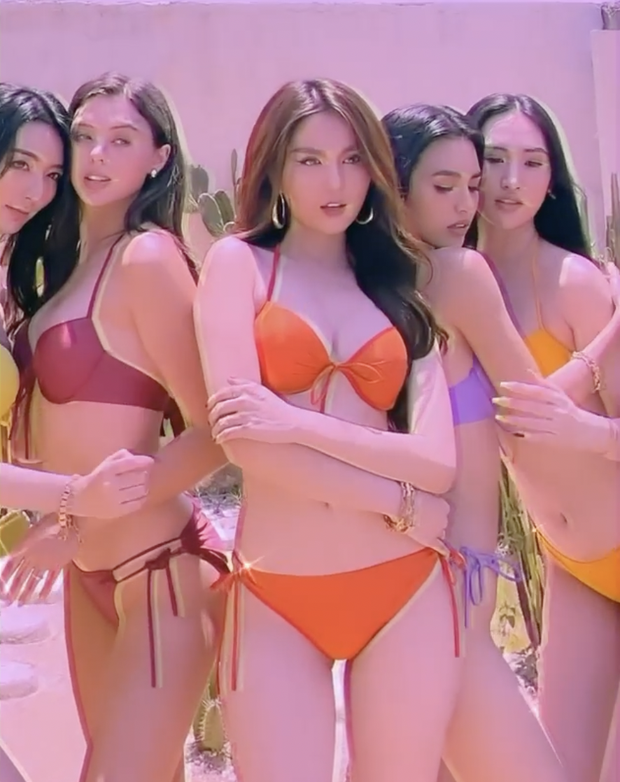 Bạn gái Bùi Tiến Dũng vs Ngọc Trinh chung hình: Body ai nuột hơn khi diện bikini? - Ảnh 2.