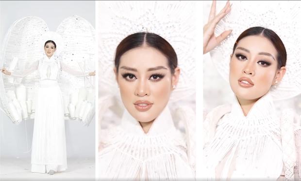 Ngắm trọn vẹn quốc phục Khánh Vân sẽ diện ở đêm Bán kết Miss Universe 2020: Cầu kỳ đến mức bị thương, nhưng tôn visual đỉnh cao - Ảnh 7.