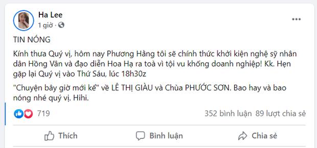 Động thái của NSND Hồng Vân lúc bị bà Phương Hằng tuyên bố khởi kiện, cách thức cao tay y như NS Hoài Linh? - Ảnh 4.