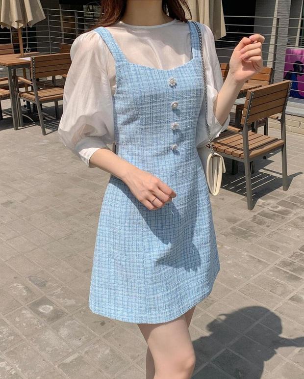 Để diện váy hai dây xịn đẹp level cao nhất, chị em hãy nghía ngay 12 set đồ này của gái Hàn - Ảnh 7.