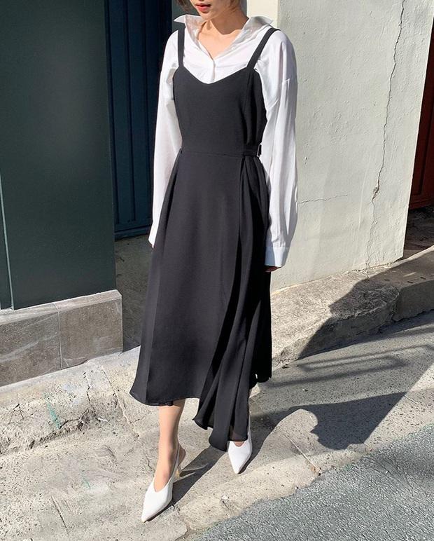 Để diện váy hai dây xịn đẹp level cao nhất, chị em hãy nghía ngay 12 set đồ này của gái Hàn - Ảnh 10.