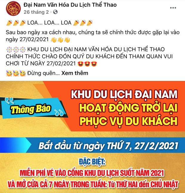 Cấm cửa giới nghệ sĩ đến Đại Nam nhưng bà Phương Hằng miễn phí vé cho tất cả người dân trong suốt năm 2021? - Ảnh 2.