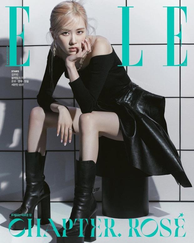 Rosé (BLACKPINK) lột xác cực Tây và còn cắn môi sexy mất máu, ai dè để lộ chân gầy hết hồn trên bìa tạp chí - Ảnh 4.