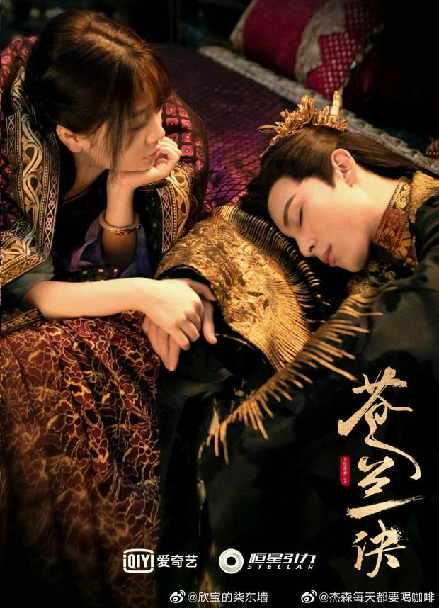 Vương Hạc Đệ hôn Ngu Thư Hân cực cháy trong poster Thương Lan Quyết, dân tình vẫn lo anh lại diễn đơ - Ảnh 2.