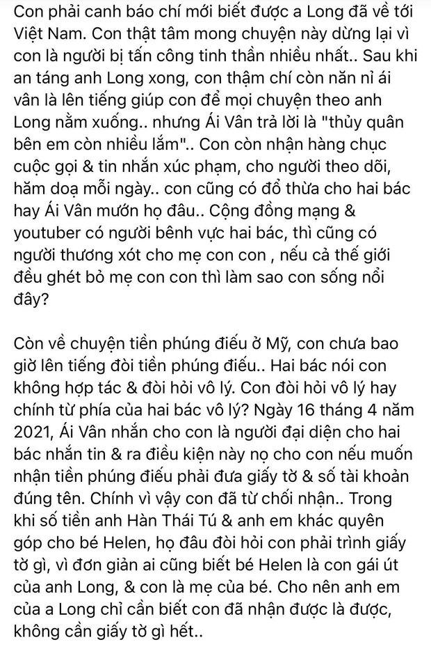 Linh Lan đáp trả trực tiếp vợ cũ và bố mẹ NS Vân Quang Long: Nói rõ kết quả vụ kiện xác minh danh tính, tuyên bố muốn đối chất ở toà án! - Ảnh 5.