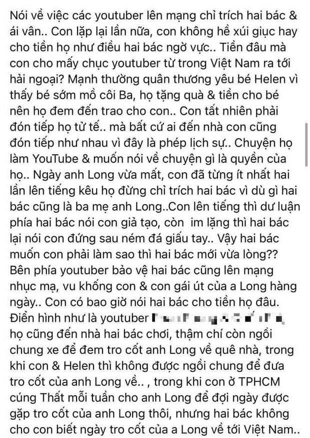 Linh Lan đáp trả trực tiếp vợ cũ và bố mẹ NS Vân Quang Long: Nói rõ kết quả vụ kiện xác minh danh tính, tuyên bố muốn đối chất ở toà án! - Ảnh 4.