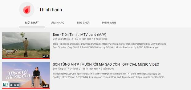Đen Vâu chính thức cho Sơn Tùng xuống #2, lập thành tích nghệ sĩ duy nhất sở hữu 11 MV Top 1 Trending YouTube Việt Nam! - Ảnh 1.