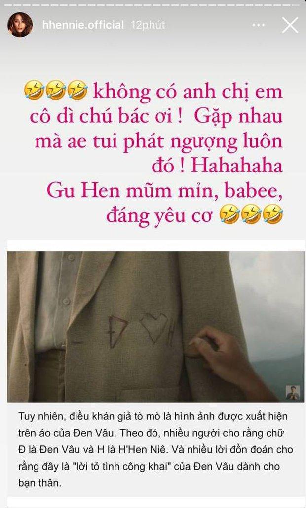 HHen Niê lên tiếng về nghi vấn hẹn hò Đen Vâu sau hint trong MV Trốn Tìm, đàng trai cũng hồi đáp lý giải chi tiết quan trọng - Ảnh 3.