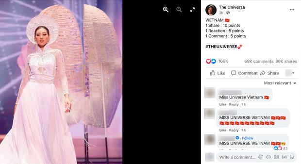 Cảnh báo: Xuất hiện fanpage Miss Universe giả mạo kêu gọi vote ảo cho Khánh Vân để câu like, khiến trăm nghìn fan đổ xô bình chọn - Ảnh 4.