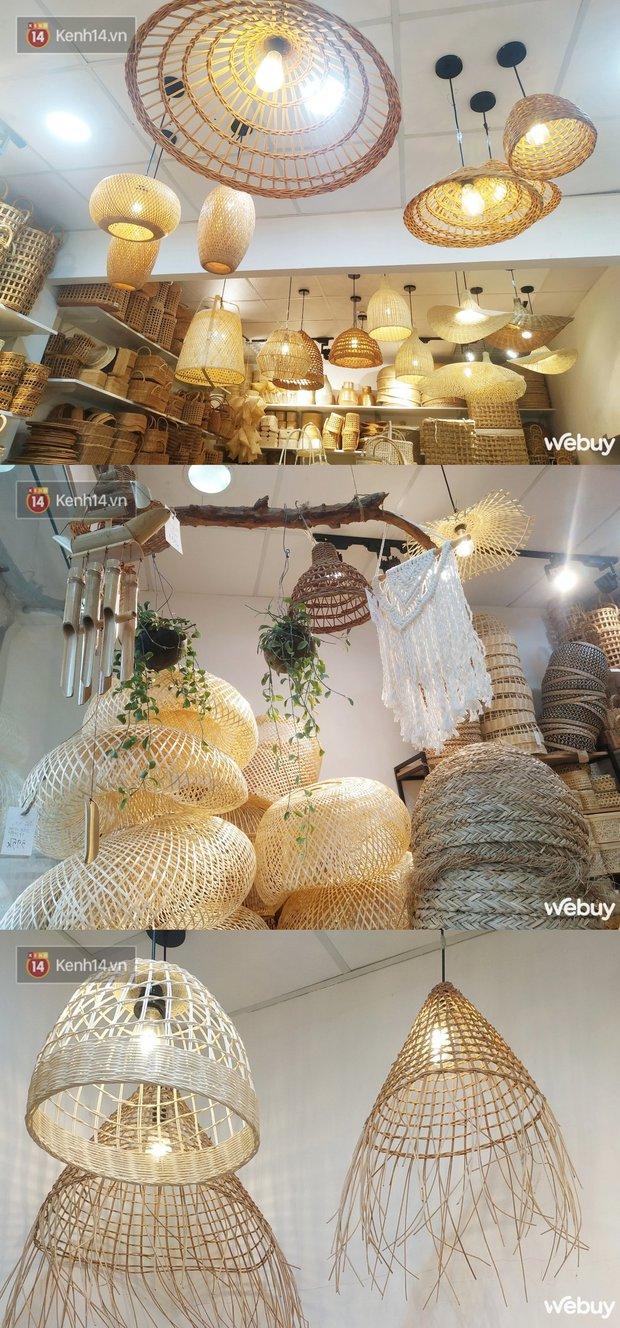 Ghé tiệm đồ mây tre bèo cói sắm được toàn món xinh chỉ từ 25k: Từ cốc tre, đèn mây cho tới lồng bàn tí hon - Ảnh 3.