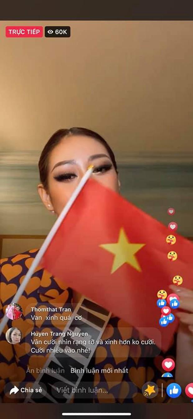 Toả sáng sau đêm thi trang phục dân tộc, Khánh Vân livestream 30 giây đã hút hơn 17.000 người xem trực tiếp - Ảnh 3.