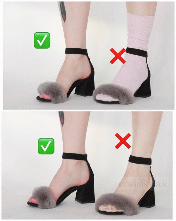 Một lỗi sai khi đi giày/sandals mà nhiều chị em không để ý nhưng lại khiến trang phục kém sang trầm trọng - Ảnh 3.