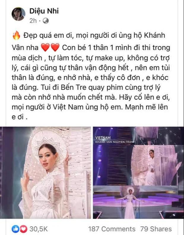 NS Hồng Vân, BB Trần và dàn sao hoan hỉ chúc mừng Khánh Vân, riêng Tóc Tiên căn dặn một điều - Ảnh 5.