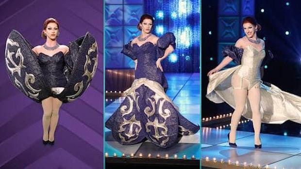 Xem Khánh Vân diễn Kén Em ở Miss Universe, netizen bất ngờ liên tưởng đến thí sinh RuPauls Drag Race - Ảnh 6.