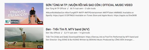 Đen Vâu vừa ra MV đã lăm le soán ngôi Sơn Tùng M-TP trên top trending, thắng thế tại BXH HOT14 - Ảnh 2.