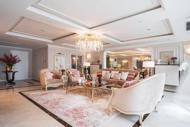 Biệt thự trên không rộng 300m2 của vợ chồng Hà Nội: Giá trị 13 tỷ đồng, phong cách tân cổ điển vừa sang vừa hút mắt - Ảnh 4.