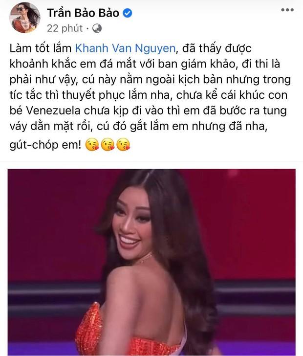 """BB Trần lầy lội """"cà khịa"""" phần trình diễn của Khánh Vân ở Bán kết Miss Universe, đề ra chiến lược nghe muốn xỉu ngang - Ảnh 6."""
