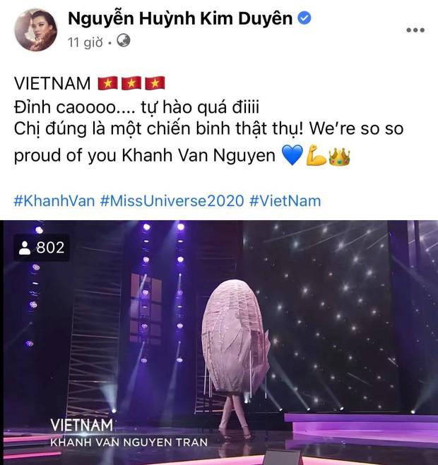 Cả Vbiz hướng về Khánh Vân trong đêm Bán kết Miss Universe: H'Hen Niê - Tóc Tiên động viên, dàn sao ráo riết kêu gọi vote - Ảnh 8.