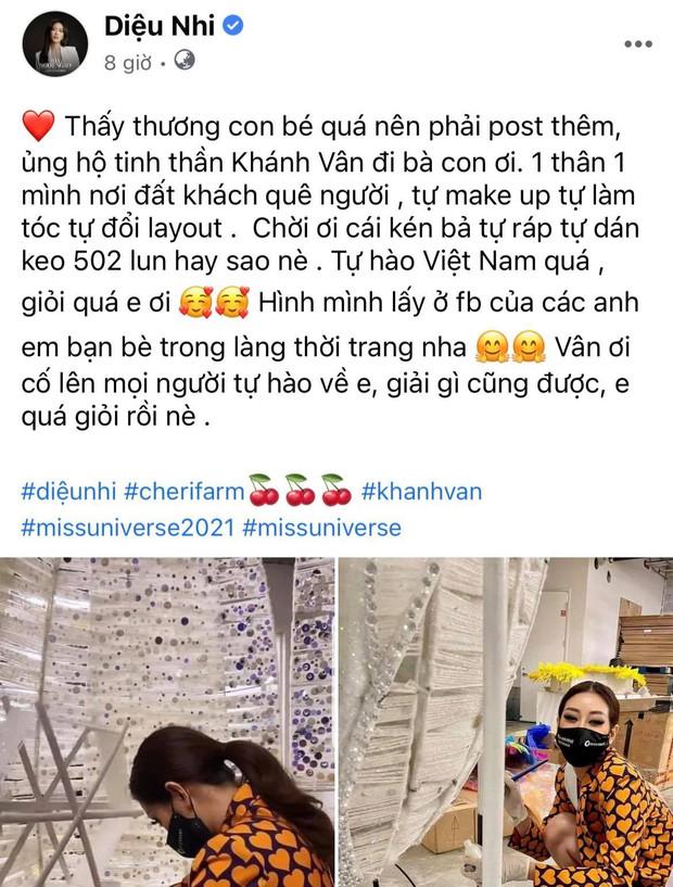 Cả Vbiz hướng về Khánh Vân trong đêm Bán kết Miss Universe: H'Hen Niê - Tóc Tiên động viên, dàn sao ráo riết kêu gọi vote - Ảnh 12.