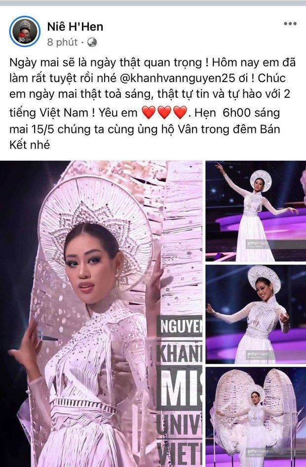 Cả Vbiz hướng về Khánh Vân trong đêm Bán kết Miss Universe: H'Hen Niê - Tóc Tiên động viên, dàn sao ráo riết kêu gọi vote - Ảnh 5.