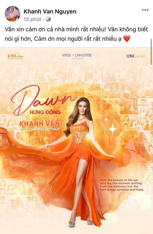 Khánh Vân có chia sẻ đầu tiên sau Bán kết Miss Universe 2020, nói 1 câu mà dàn sao Vbiz đồng loạt trầm trồ và động viên - Ảnh 2.