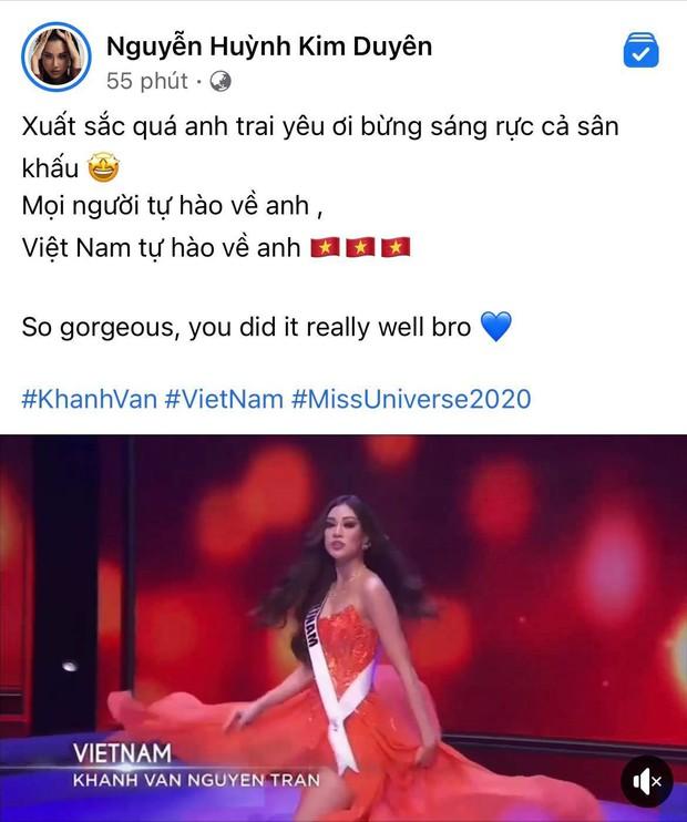 Khánh Vân có chia sẻ đầu tiên sau Bán kết Miss Universe 2020, nói 1 câu mà dàn sao Vbiz đồng loạt trầm trồ và động viên - Ảnh 5.