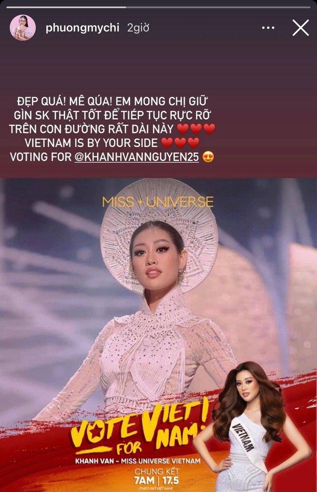 Cả Vbiz hướng về Khánh Vân trong đêm Bán kết Miss Universe: H'Hen Niê - Tóc Tiên động viên, dàn sao ráo riết kêu gọi vote - Ảnh 14.