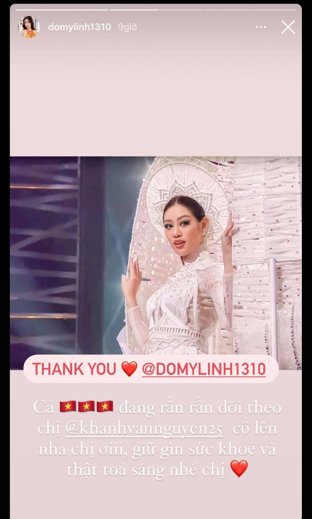Cả Vbiz hướng về Khánh Vân trong đêm Bán kết Miss Universe: H'Hen Niê - Tóc Tiên động viên, dàn sao ráo riết kêu gọi vote - Ảnh 9.
