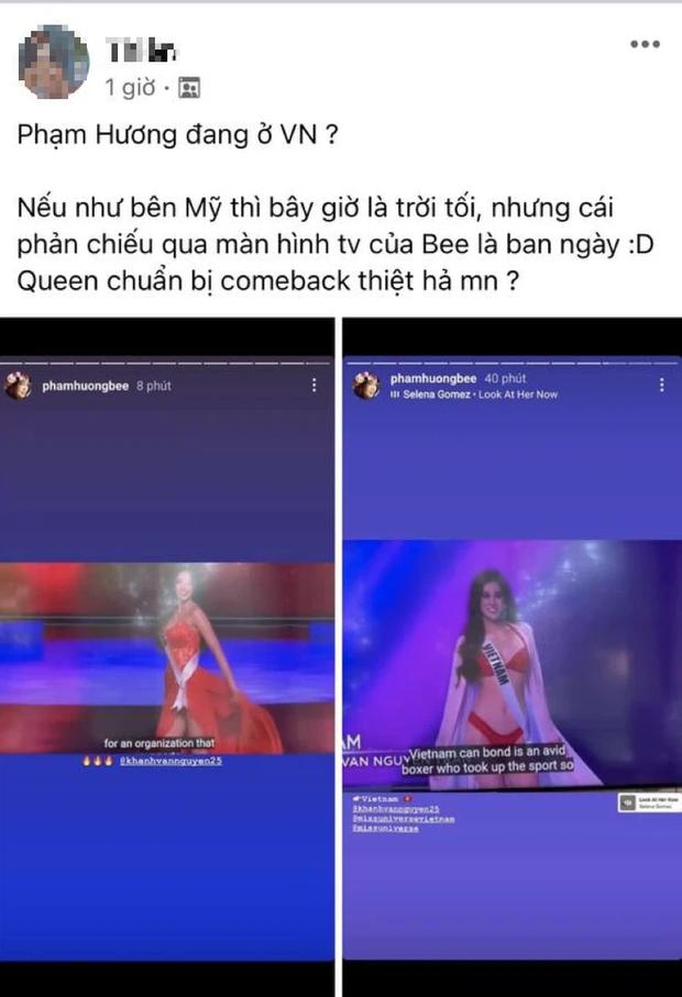 Phạm Hương đăng story ủng hộ Khánh Vân, ai dè bị netizen soi chi tiết chứng minh đang ở Việt Nam? - Ảnh 2.