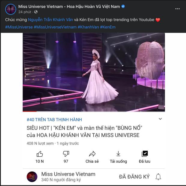 Màn trình diễn Kén Em đỉnh cao của Khánh Vân chính thức lọt top Trending YouTube Việt Nam - Ảnh 6.