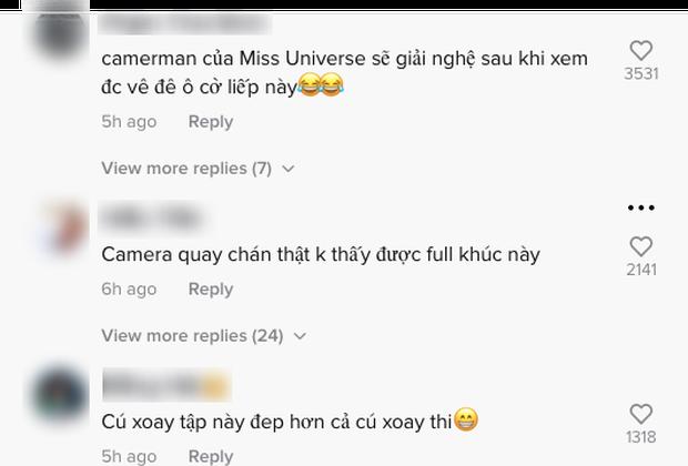 Clip: Hậu trường Khánh Vân luyện cú xoay lốc mặt trời đẹp hơn cả lúc thi, netizen đổ tội cameraman ở Miss Universe không biết bắt cảnh! - Ảnh 9.