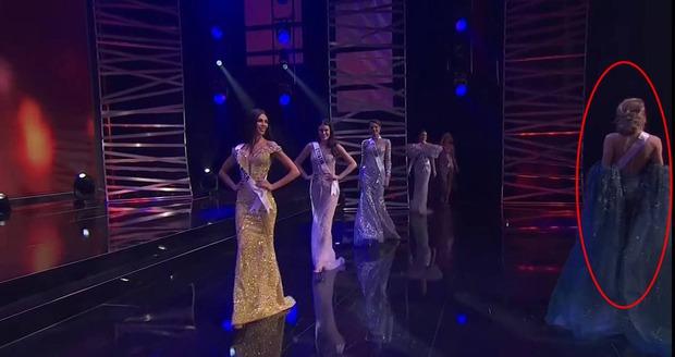 Khánh Vân ghi điểm bởi hành động cực tinh tế ở Miss Universe: Đứng sau để tránh che Hoa hậu nước bạn - Ảnh 4.