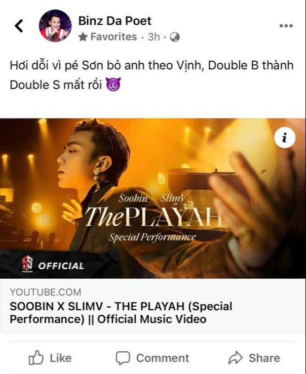 Soobin kết hợp Slim V làm mới E.P The Playah kiểu gì mà bị Binz hờn dỗi, Rhymastic khen còn netizen phản ứng thế nào? - Ảnh 5.