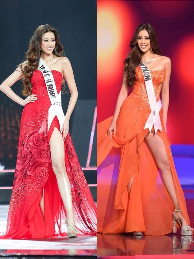 """Sự trùng hợp bất ngờ giữa đầm dạ hội của Khánh Vân ở Miss Universe Việt và Thế giới, """"điềm báo"""" đăng quang là đây? - Ảnh 2."""